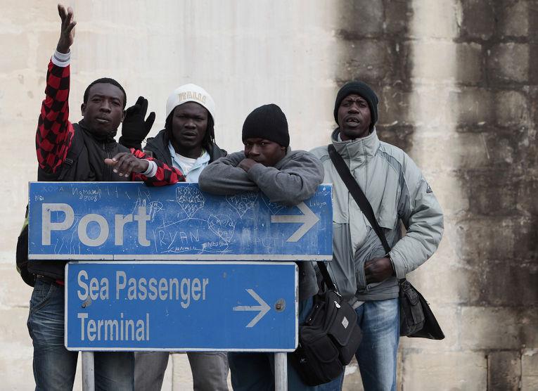 Африканские мигранты на Мальте