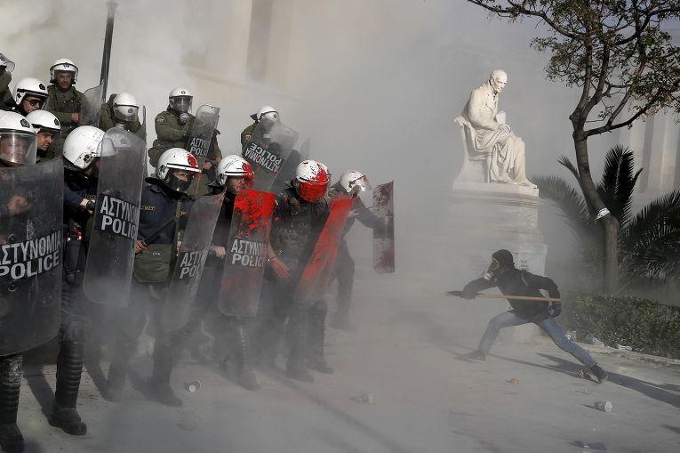 Акция протеста против секретных тюрем в Афинах