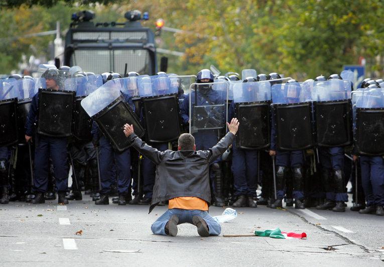 Антиправительственные протесты в Будапеште