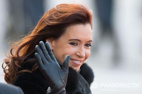 Прилет президента Аргентинской Республики Кристины Фернандес в Москву