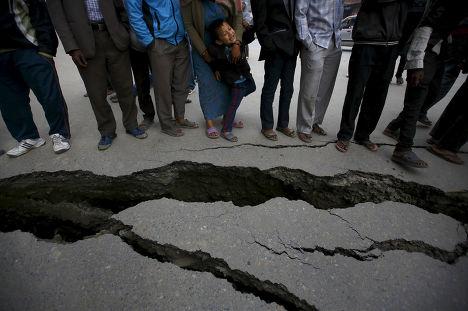 Последствия землетрясения в Бхактапуре, Непал