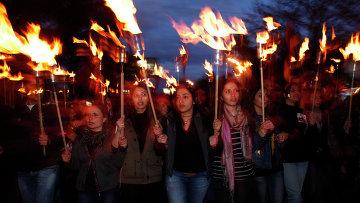Факельное шествие в память жертв геноцида в Армении