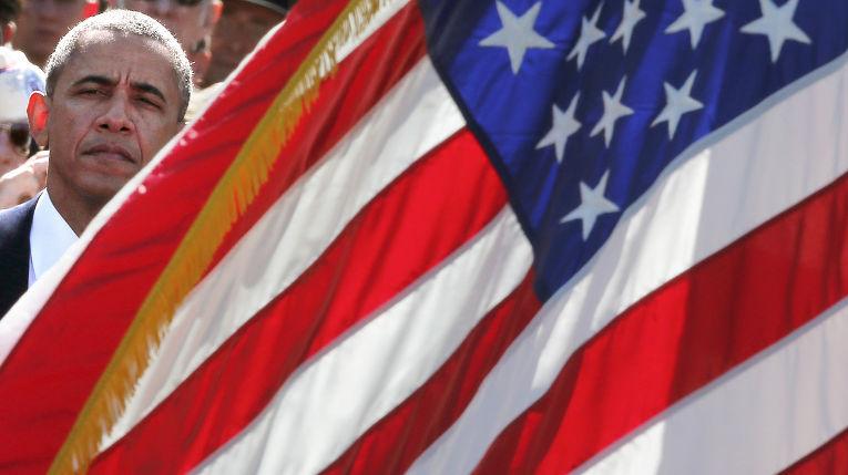 Барак Обама на праздновании годовщины высадки в Нормандии