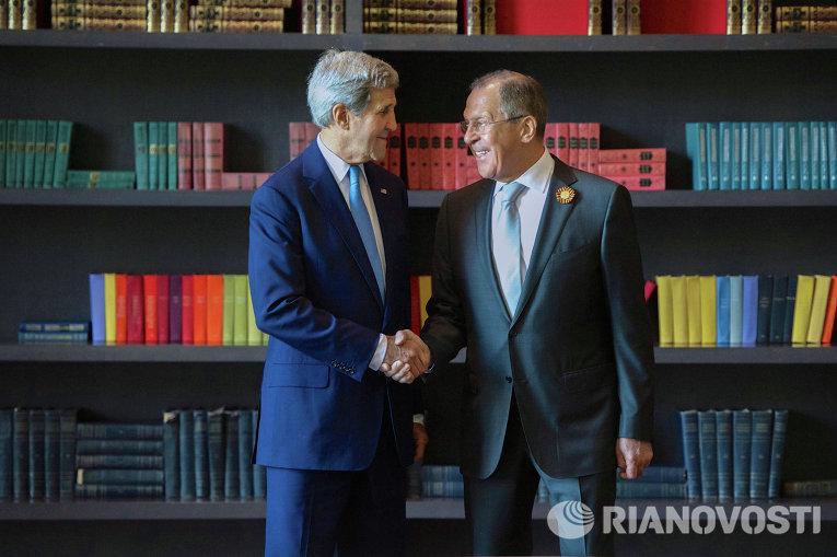Встреча главы МИД РФ С. Лаврова и госсекретаря США Дж.Керри
