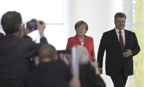 Встреча Ангелы Меркель с Петром Порошенко в Берлине