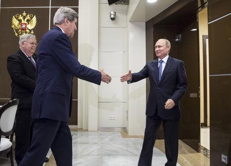 Встреча Владимира Путина и Джона Керри в резиденции «Бочаров ручей»