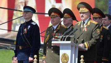 Белорусский министр появился в форме НКВД