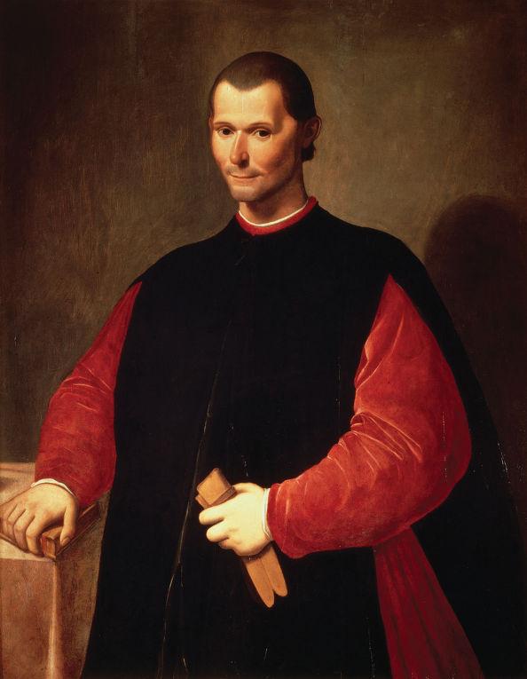 Портрет итальянского философа Никколо Макиавелли