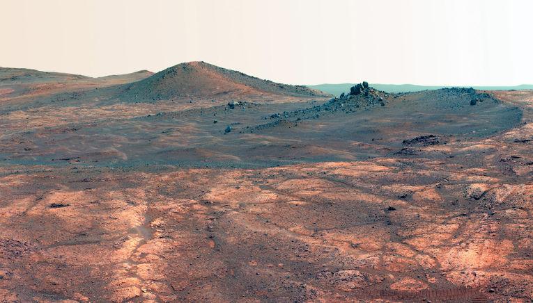 Кратер Духа святого Людовика на Марсе