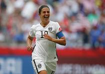 Капитан женской сборной США по футболу Карли Ллойд, 5 июля 2015