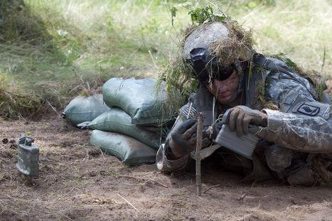 Тренировка 173-й воздушно-десантной бригады армии США