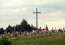Монумент жертвам Августовской облавы в населённом пункте Гибы