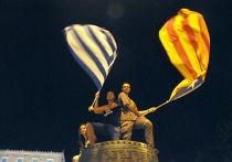 Митинг противников подписания соглашения с Евросоюзом в Афинах