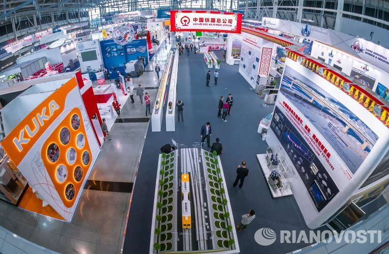 """Открытие шестой Международной промышленной выставки """"Иннопром 2015"""""""