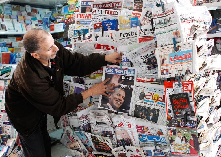 Газетный стенд в Касабланке