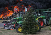Французские фермеры протестуют против импорта мясомолочной продукции
