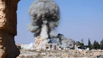 Боевики Исламского государства (запрещена в РФ) взрывают храм Баал-Шамина в Пальмире