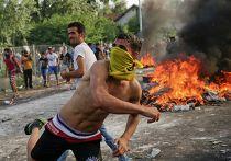 Столкновение мигрантов и полиции на границе Венгрии и Сербии. 16 сентября 2015