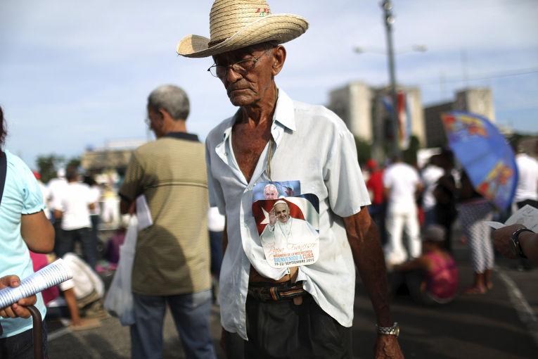 Месса папы Франциска на площади Революции в Гаване