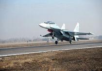 Первые полеты новейших истребителей СУ 30 - СМ на авиабазе в Забайкалье
