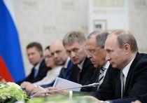 Президент Российской Федерации Владимир Путин во время встречи в Уфе с Председателем Китайской Народной Республики Си Цзиньпином