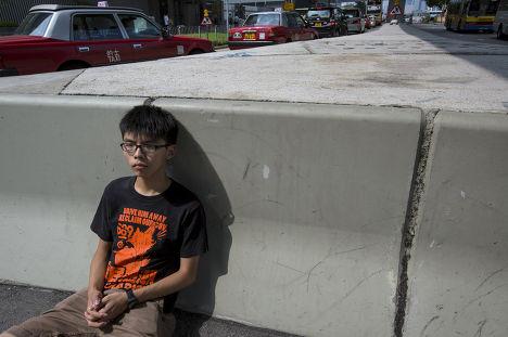 Активист студенческого движения Гонконга Джошуа Вонг