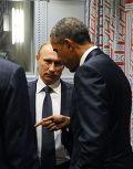 Владимир Путин и Барак Обама на 70-й сессии Генеральной Ассамблеи ООН