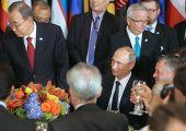 Владимир Путин на официальном завтраке от имени генерального секретаря Организации Объединенных Наций Пан Ги Муна
