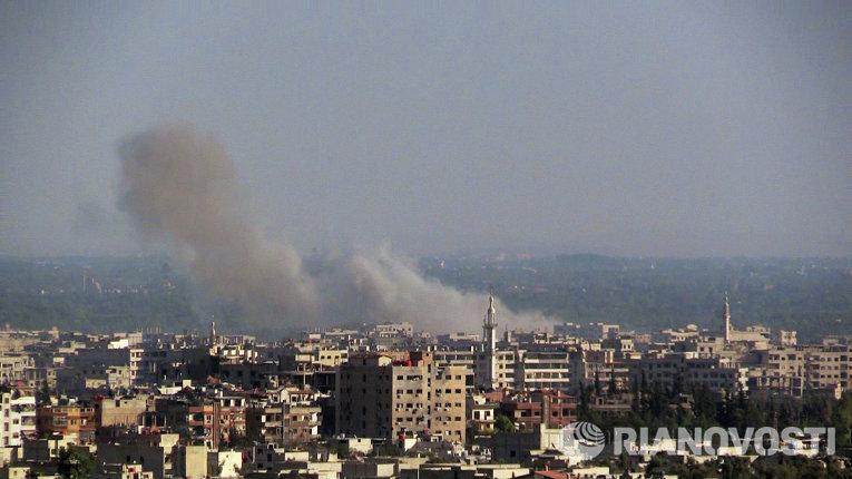 Боевые действия в пригороде Дамаска
