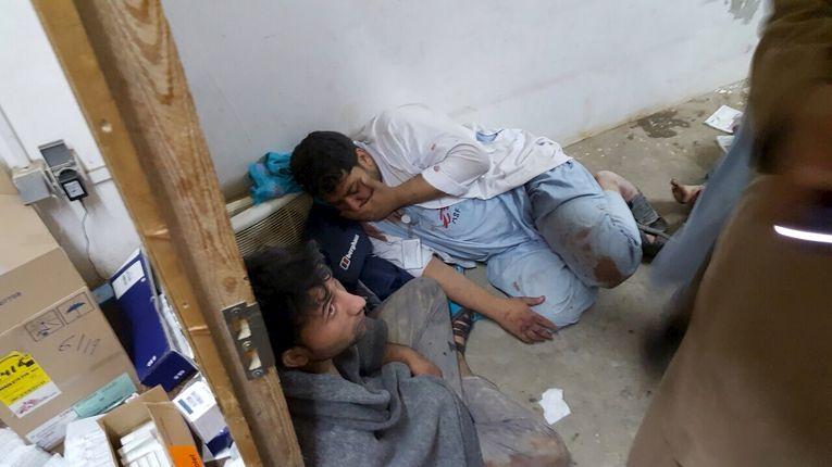 """Больница """"Врачей без границ"""" в Кундузе после удара с воздуха"""