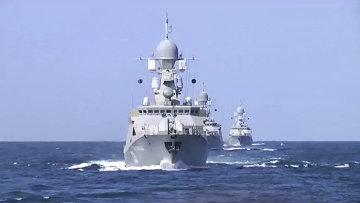 Корабли Каспийской флотилии выполнили пуски крылатых ракет по позициям боевиков ИГ в Сирии