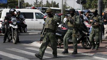 Израильские офицеры полиции в Иерусалиме