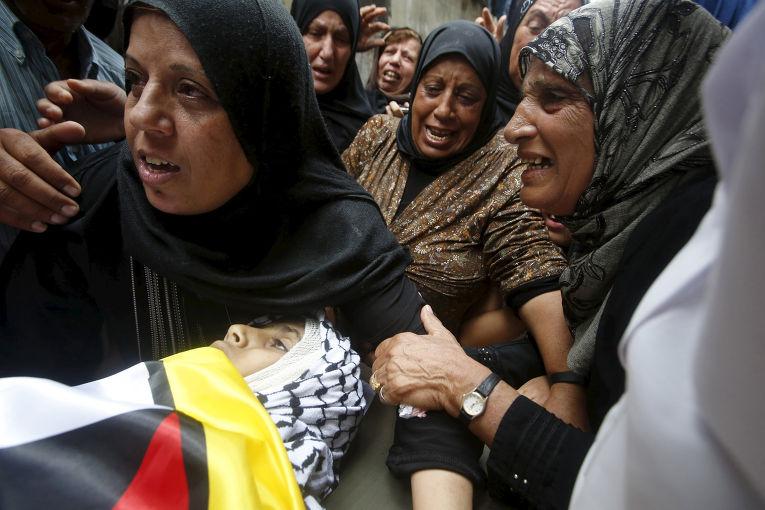 Похороны 13-летнего Абделя-Рахмана Абейдаллы, погибшего во время столкновений с израильской полицией