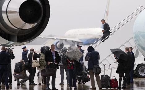 Президент США Барак Обама прибывает на авиабазу «Эндрюс»