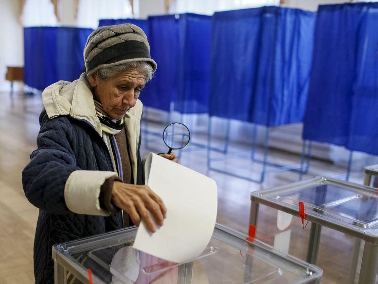 Голосование на местных выборах в Киеве