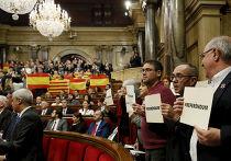 Заседание парламента Каталонии