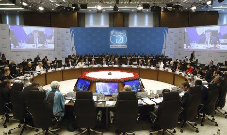 Сессия саммита G20 в Анталье