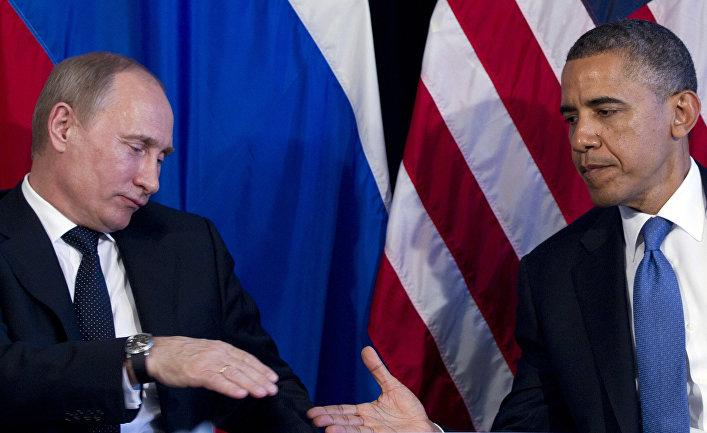 Владимир Путин и Барак Обама на саммите G20 в Мексике