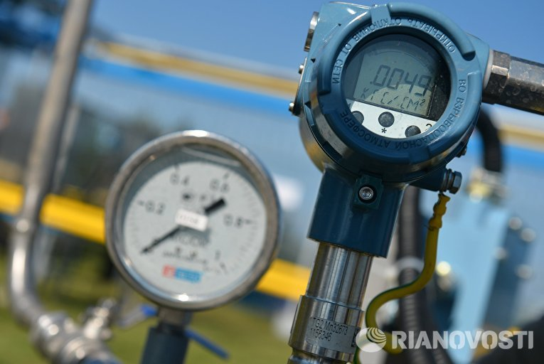 Церемония пуска газа по случаю завершения строительства газопровода-отвода в Казани