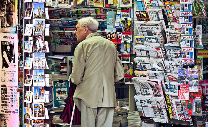 Газетный ларек во Франции