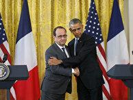 Совместная пресс-конференция Барак Обамы и Франсуа Олланда в Белом доме