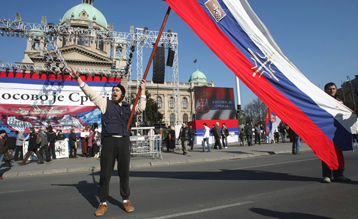 На улицах Белграда