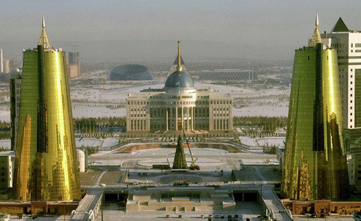 Вид на Астану, столицу Казахстана
