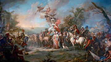 Стефано Торелли «Аллегория на победу Екатерины II над турками и татарами», 1772 год
