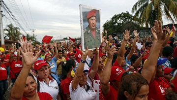 Митинг сторонников Уго Чавеса в Баринасе
