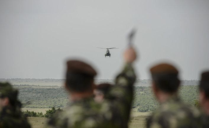 Совместные учения американских, румынских и болгарских военных в Румынии