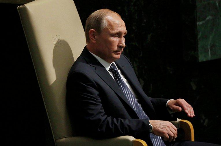 Президент России Владимир Путин на ГА ООН в Нью-Йорке