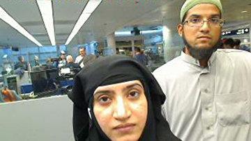 Ташфин Малик и ее муж Сайед Ризван Фарук, устроившие стрельбу в центре помощи инвалидам в Сан-Бернардино