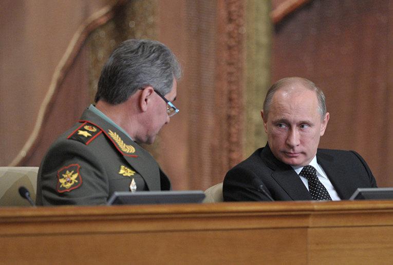 Диссертация Путина Может ли борьба с плагиатом перевернуть  Владимир Путин и Сергей Шойгу
