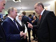Президент России Владимир Путин и президент Турции Реджеп Тайип Эрдоган в Баку, 12 июня 2015